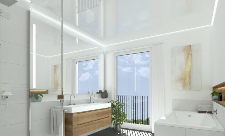 Badezimmer mit EASY SKY Spanndecke